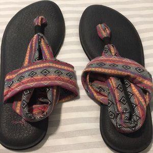 Sanuk Yoga Sling Sandals Size 10